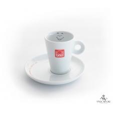 Conjunto chávena + pires de café motivo satisfeito